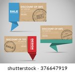 design colored banners in... | Shutterstock .eps vector #376647919