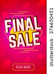 colorful banner for final sale.  | Shutterstock .eps vector #376650451