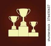 sporting trophies or winners... | Shutterstock .eps vector #376650637