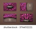 vector vintage business card... | Shutterstock .eps vector #376652221