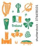 symbol of ireland vector set in ... | Shutterstock .eps vector #376658101