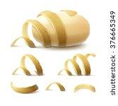 vector set of new yellow raw... | Shutterstock .eps vector #376665349