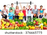 Group Of Fitness People With...