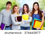 group of students. | Shutterstock . vector #376665877