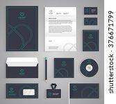corporate identity branding... | Shutterstock .eps vector #376671799