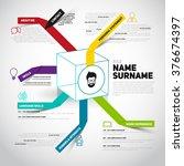 minimalist cv  resume template... | Shutterstock .eps vector #376674397