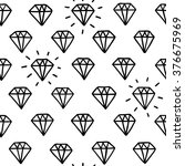 hand drawn diamonds doodle... | Shutterstock .eps vector #376675969