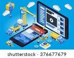 mobile app development ... | Shutterstock .eps vector #376677679