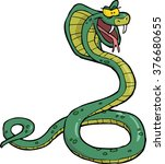 cartoon doodle snake cobra on a ... | Shutterstock .eps vector #376680655