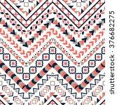 vector tribal aztec seamless...   Shutterstock .eps vector #376682275