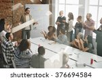 conference discussion talking... | Shutterstock . vector #376694584