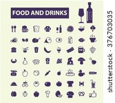 food  drinks  grocery icons  | Shutterstock .eps vector #376703035