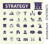 strategy icons | Shutterstock .eps vector #376703071