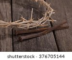Closeup Of Crown Of Thorns And...