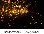 glowing flow of steel metal... | Shutterstock . vector #376709821