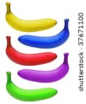 bananas colorful isolated | Shutterstock . vector #37671100