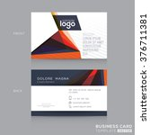 abstract modern business cards... | Shutterstock .eps vector #376711381