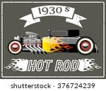 hot rod car | Shutterstock .eps vector #376724239