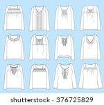 vector illustrations of women's ... | Shutterstock .eps vector #376725829
