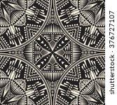 vector flower seamless pattern... | Shutterstock .eps vector #376727107
