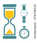 a simple set of flat vector... | Shutterstock .eps vector #376728115