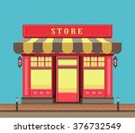 vector illustration city street ... | Shutterstock .eps vector #376732549