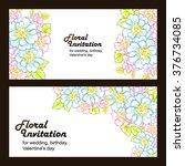romantic invitation. wedding ... | Shutterstock . vector #376734085