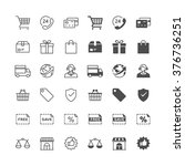 e commerce icons  included... | Shutterstock .eps vector #376736251