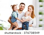happy family mother  father and ... | Shutterstock . vector #376738549