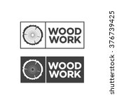 set of black woodwork label.... | Shutterstock .eps vector #376739425