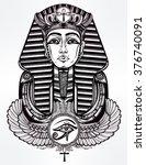 Vintage Tattoo Vector Pharaoh...