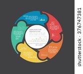 design for your presentation ... | Shutterstock .eps vector #376747381