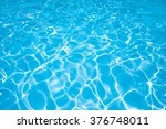 blue and bright water with sun... | Shutterstock . vector #376748011