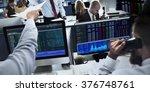 people working finance stock... | Shutterstock . vector #376748761
