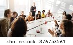 meeting discussion talking... | Shutterstock . vector #376753561