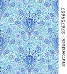 vector boho chic paisley... | Shutterstock .eps vector #376759657