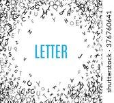 abstract black alphabet...   Shutterstock .eps vector #376760641