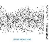 abstract black alphabet... | Shutterstock .eps vector #376760647