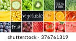 healthy fresh food. fruits and... | Shutterstock . vector #376761319
