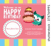 happy birthday card design.... | Shutterstock .eps vector #376764991