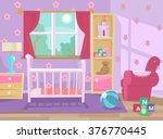 baby room. vector flat...