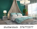 bedroom interior. 3d... | Shutterstock . vector #376772377