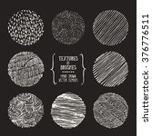 hand drawn textures and brushes.... | Shutterstock .eps vector #376776511