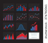 set of charts  infographics... | Shutterstock .eps vector #376782061