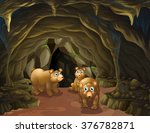 Bear Family Living In The Cave...
