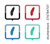 feather   vector icon  map... | Shutterstock .eps vector #376784737