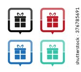 gift   vector icon  map pointer ...