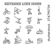 extreme line icons  mono vector ... | Shutterstock .eps vector #376790734