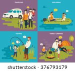 family with kids concept flat... | Shutterstock .eps vector #376793179