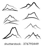 abstract minimal mountain... | Shutterstock .eps vector #376793449